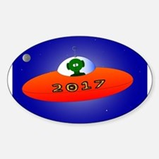 Happy New Year 2017 Alien Decal