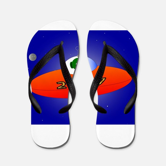 Happy New Year 2017 Alien Flip Flops