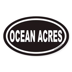 OCEAN ACRES Euro Oval Decal