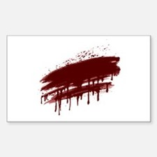 Blood stains Rectangle Decal