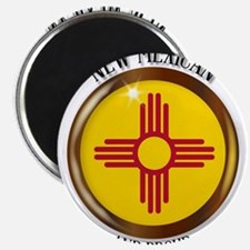New Mexico Proud Flag Button Magnets
