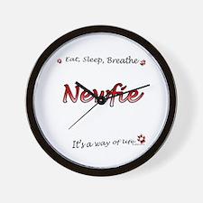 Newfie Breathe Wall Clock