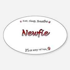 Newfie Breathe Oval Decal