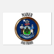 Maine Proud Flag Button Postcards (Package of 8)