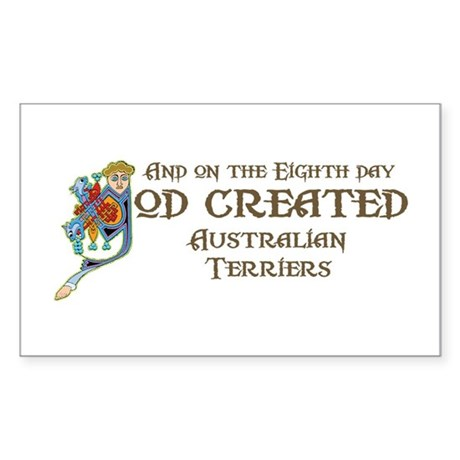 God Created Aussies Rectangle Sticker