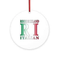 Rhode Island Italian Ornament (Round)