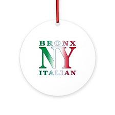 Bronx New York Italian Ornament (Round)