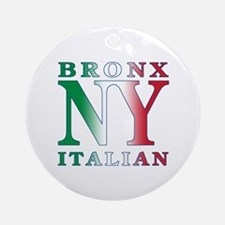 Bronx New York Italian Ornament (Round)