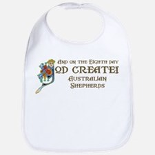 God Created Aussies Bib