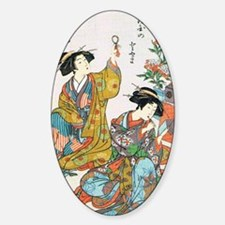 Classical Ancient Japanese Se Oval Decal