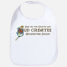 God Created Dogos Bib