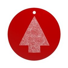 Arrow Tree Red Ornament (Round)