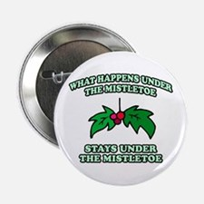 "What Happens Under Mistletoe 2.25"" Button"