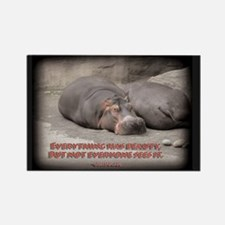 Hippos are beautiful! Rectangle Magnet