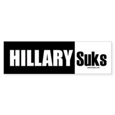 Hillary Suks Bumper Bumper Sticker