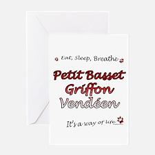 PBGV Breathe Greeting Card