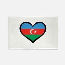 Azerbaijan Love Rectangle Magnet