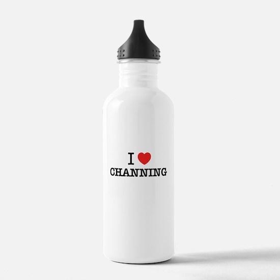 I Love CHANNING Water Bottle