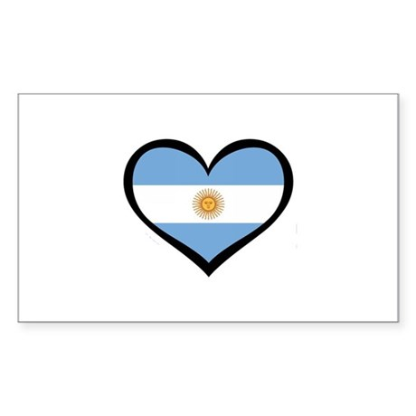 Argentina Love Rectangle Sticker