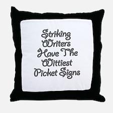 Funny Wga Throw Pillow