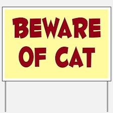 Beware of Cat Yard Sign