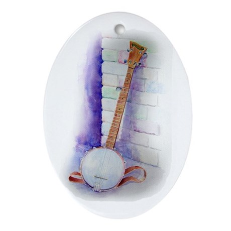 Banjo Oval Ornament