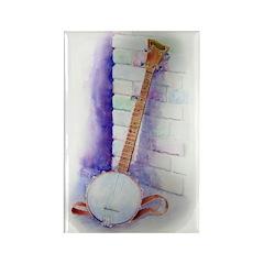 Banjo Rectangle Magnet (10 pack)