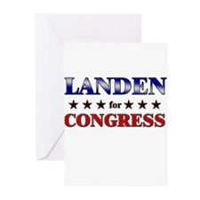 LANDEN for congress Greeting Cards (Pk of 20)