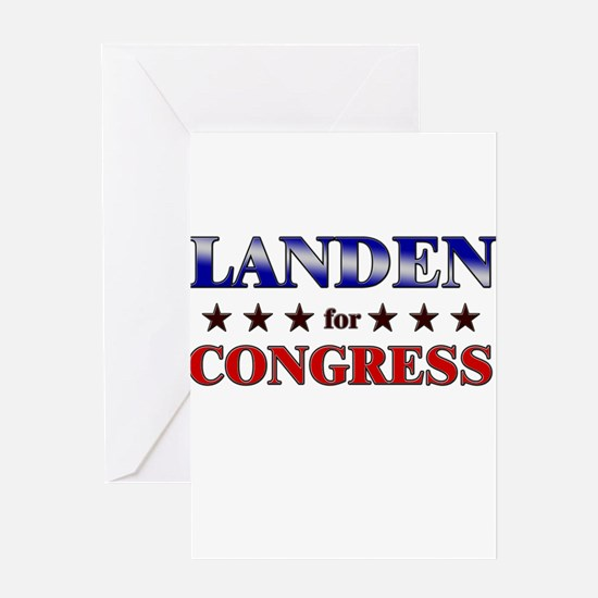 LANDEN for congress Greeting Card
