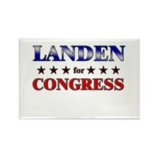 LANDEN for congress Rectangle Magnet