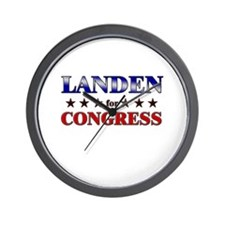 LANDEN for congress Wall Clock