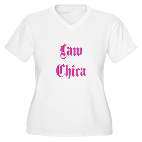 Law Chica Women's Plus Size V-Neck T-Shirt
