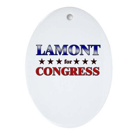 LAMONT for congress Oval Ornament