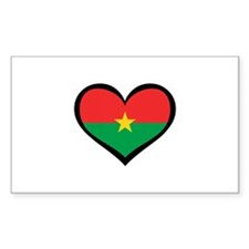 Burkina Faso Love Rectangle Decal