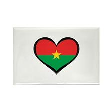 Burkina Faso Love Rectangle Magnet