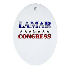 LAMAR for congress Oval Ornament