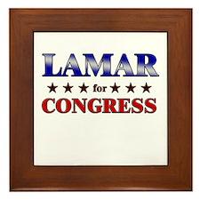 LAMAR for congress Framed Tile