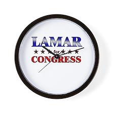 LAMAR for congress Wall Clock