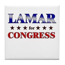 LAMAR for congress Tile Coaster