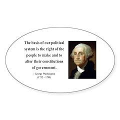 George Washington 5 Oval Decal