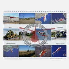 Cute Helicopter Wall Calendar