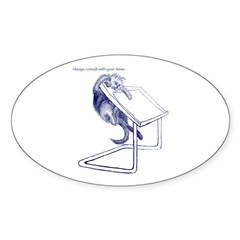 Consult Your Muse Oval Decal