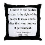George Washington 5 Throw Pillow