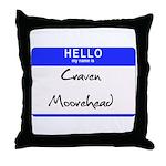 Craven Moorehead Throw Pillow