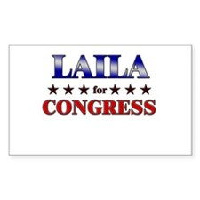 LAILA for congress Rectangle Decal