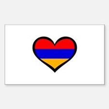 Armenia Love Rectangle Decal