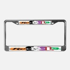 Recycle Graffiti Style License Plate Frame