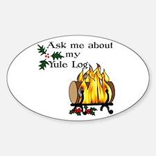 Yule Log Decal