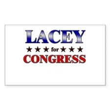 LACEY for congress Rectangle Decal