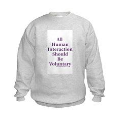 Human Interaction Kids Sweatshirt